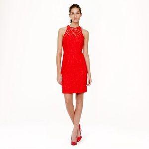 J. Crew Collection Pamela dress in Poppy Red